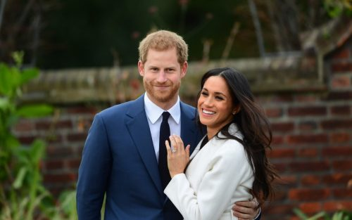 Meghan Markle shows off her wedding ring with Prince Harry