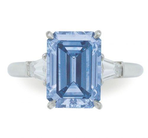 3 Carat Fancy Intense Blue Diamond