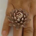6,690 diamonds lotus ring