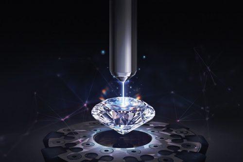 laser-inscribes diamond