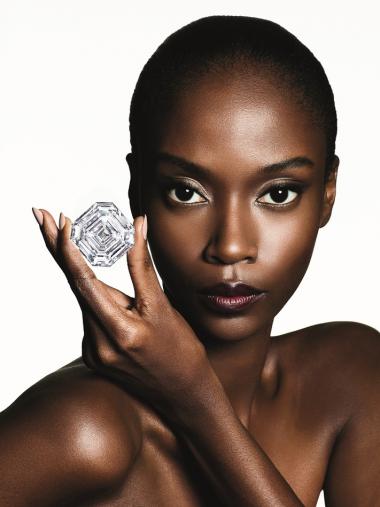 Graff Lesedi La Rona Largest Square Emerlad Cut Diamond Model