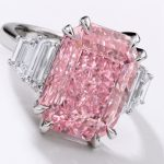 A 10.64 carat pink diamond ring
