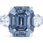 Christies blue diamond ring