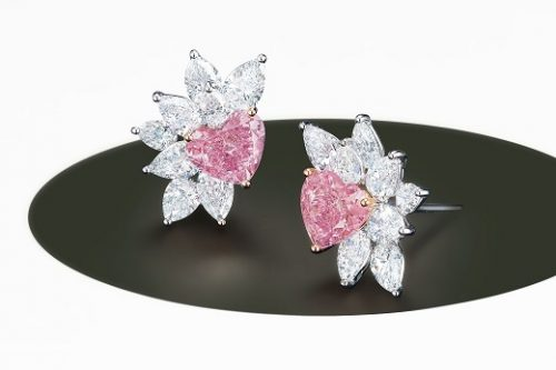 Argyle pink diamond earrings.