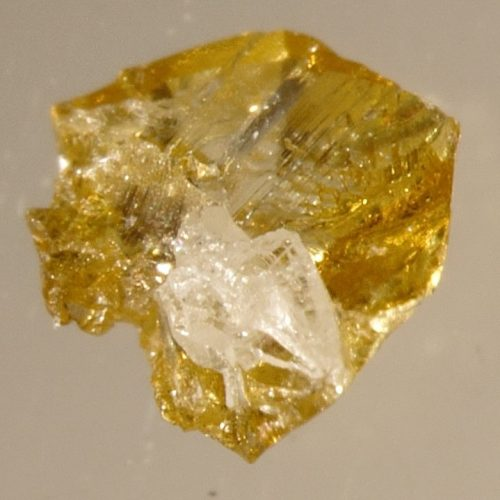 Yellow diamonds, some with colourless cores