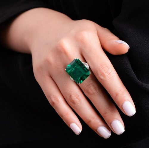 21.52 carat Colombian emerald