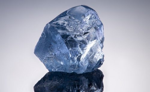 A 20.08-carat Type IIb blue diamond recovered at Cullinan.