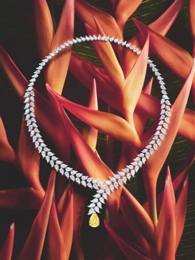 Piaget Wings of Light Diamond Heliconia Necklace